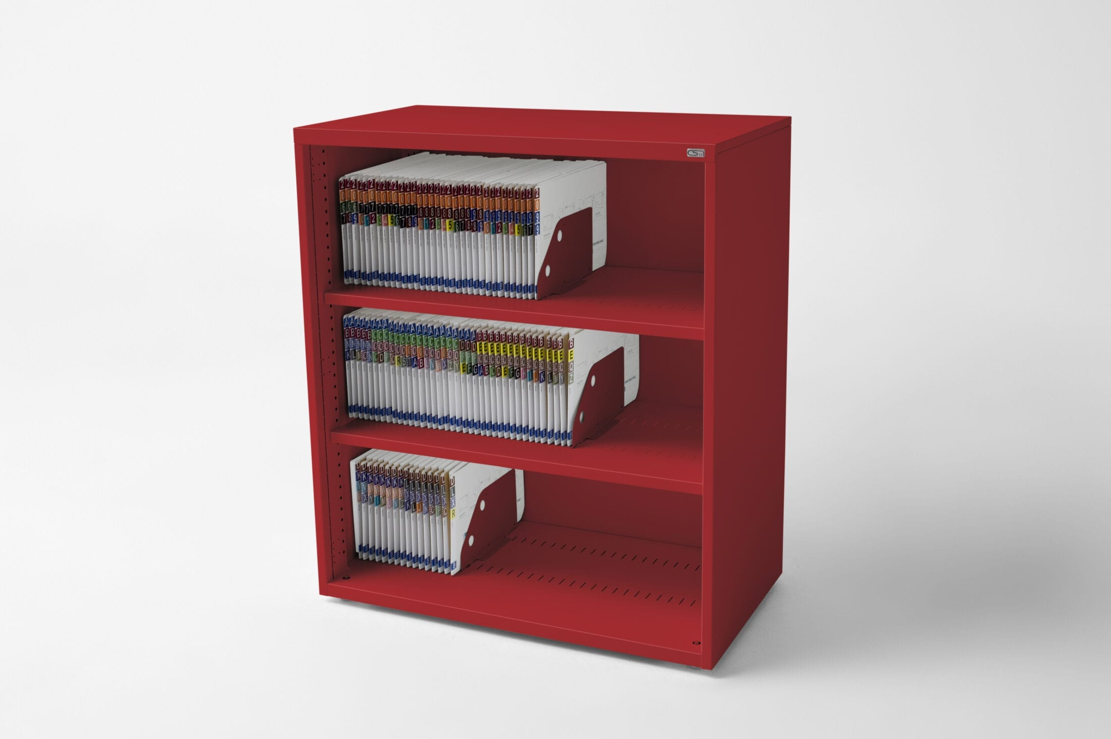 Open Bookcase Flame Red