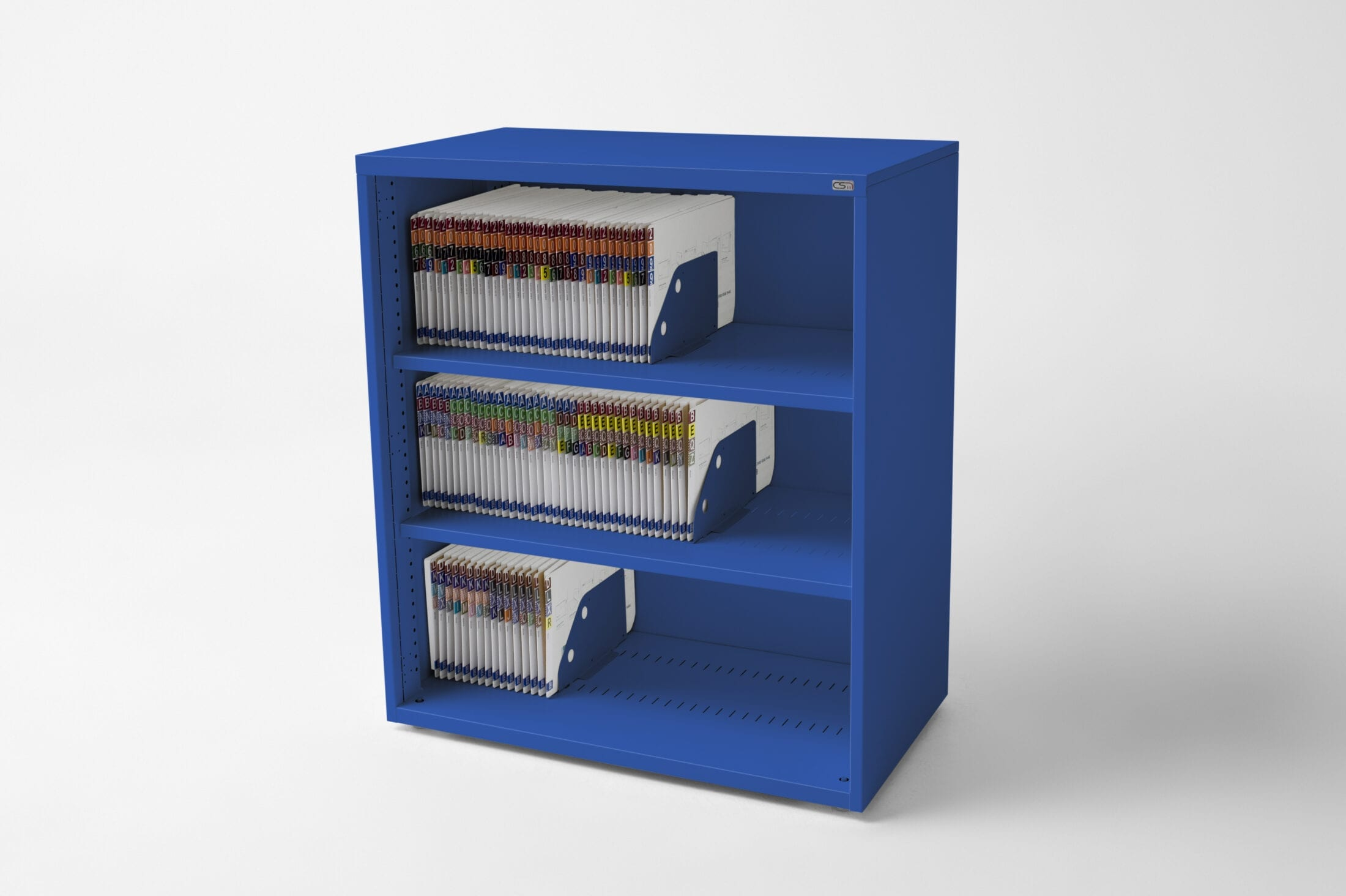 Open Bookcase French Blue