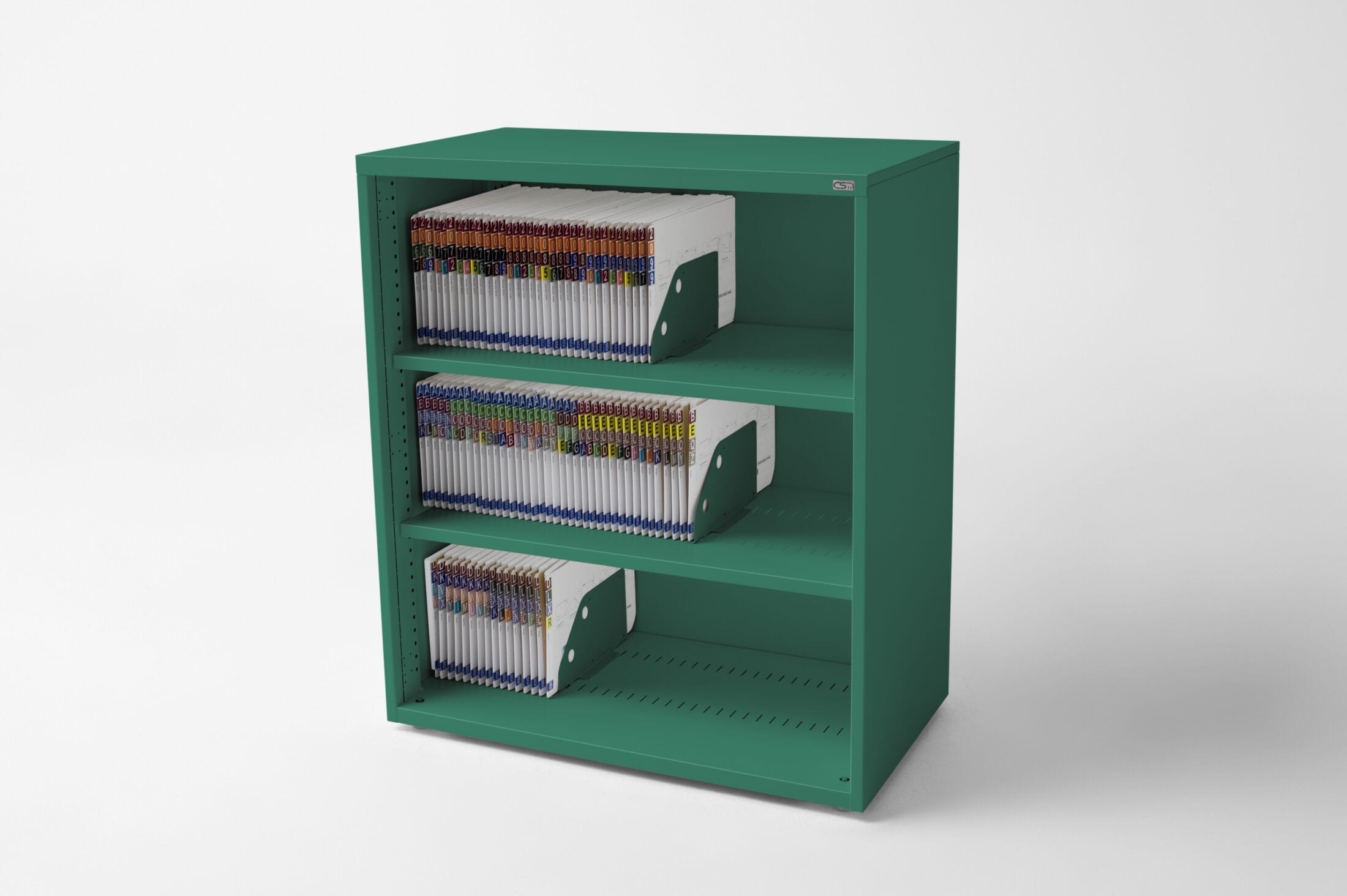 Open Bookcase Green