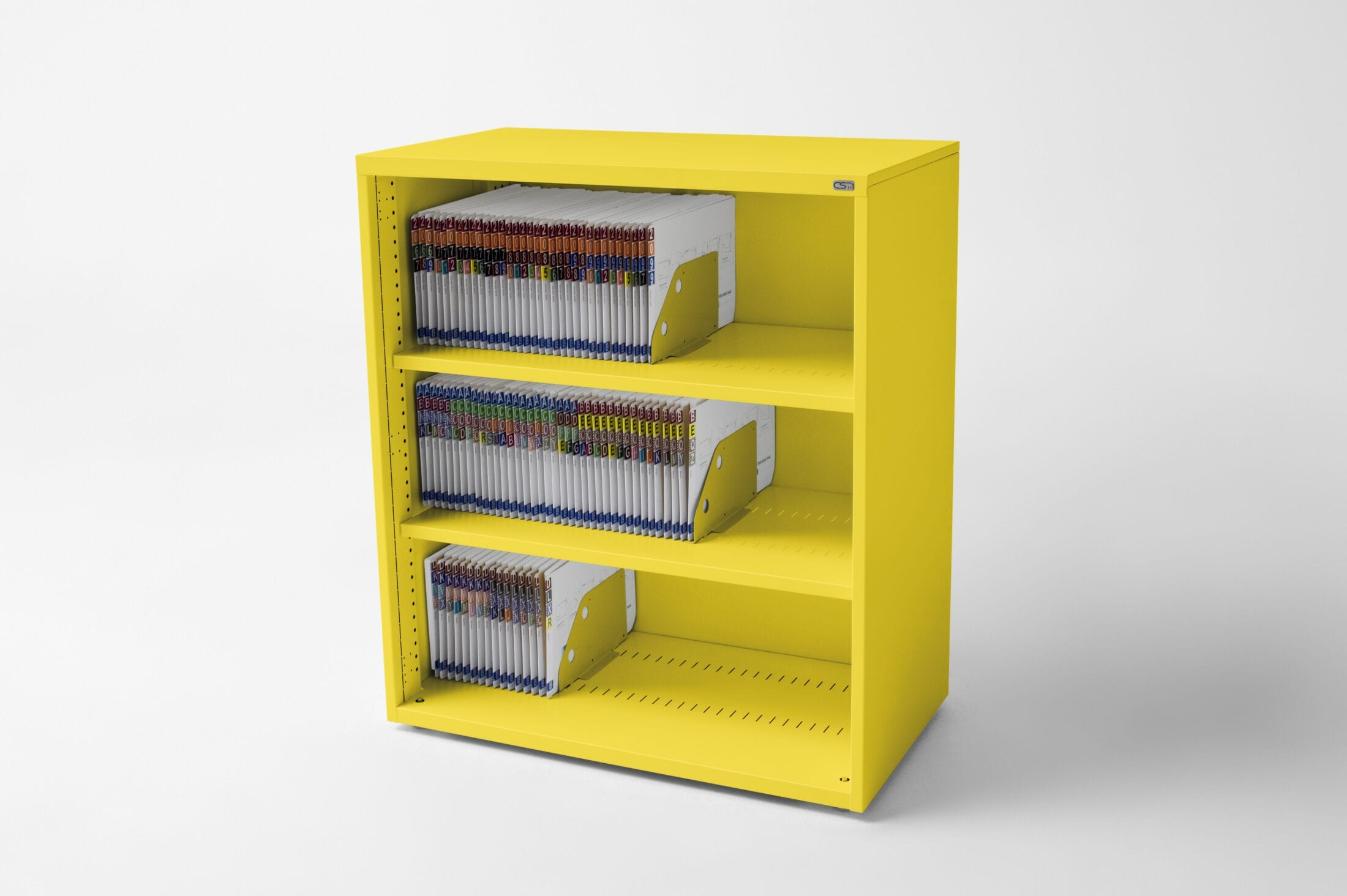 Open Bookcase Yellow
