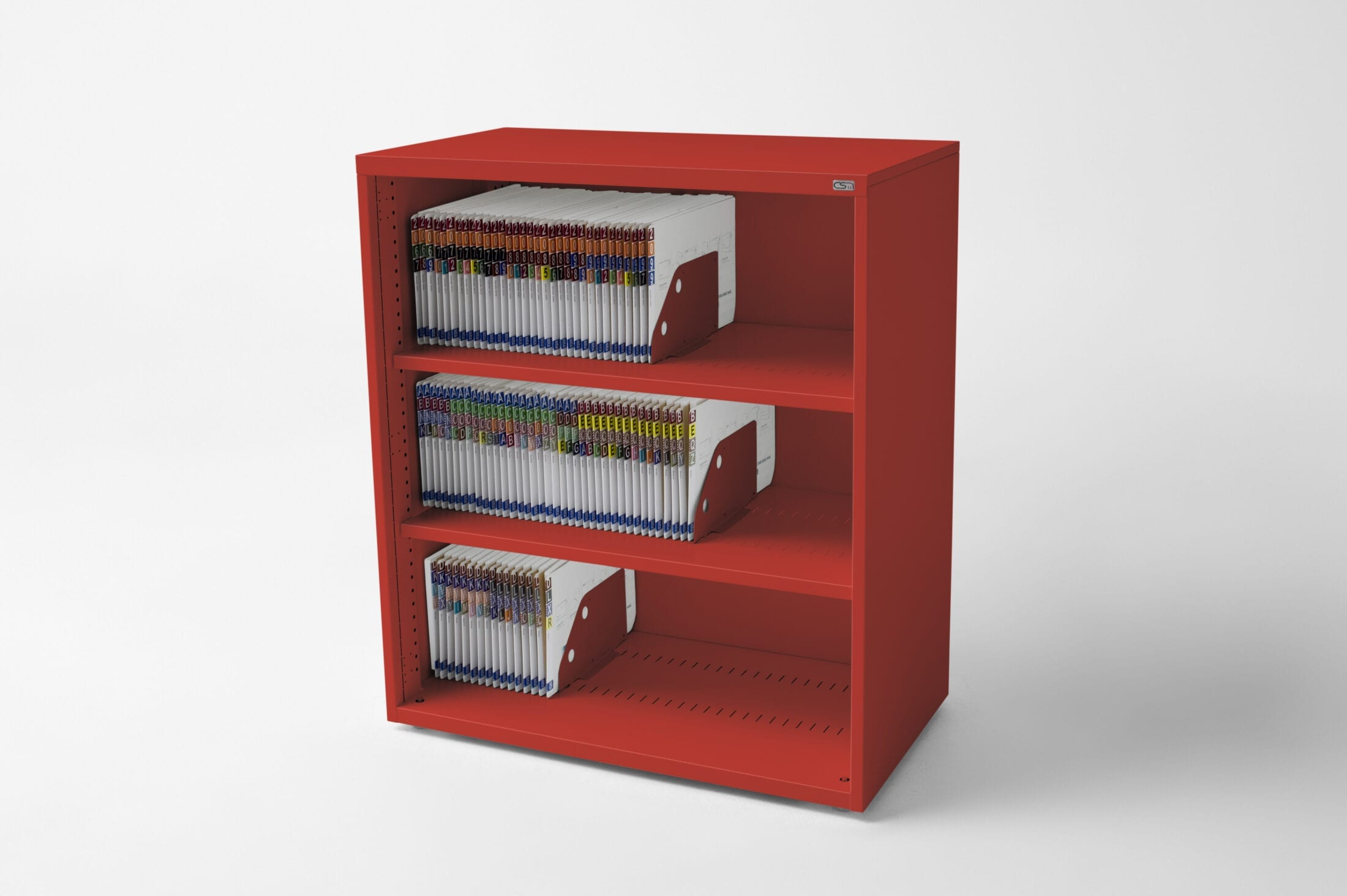 Open Bookcase Red