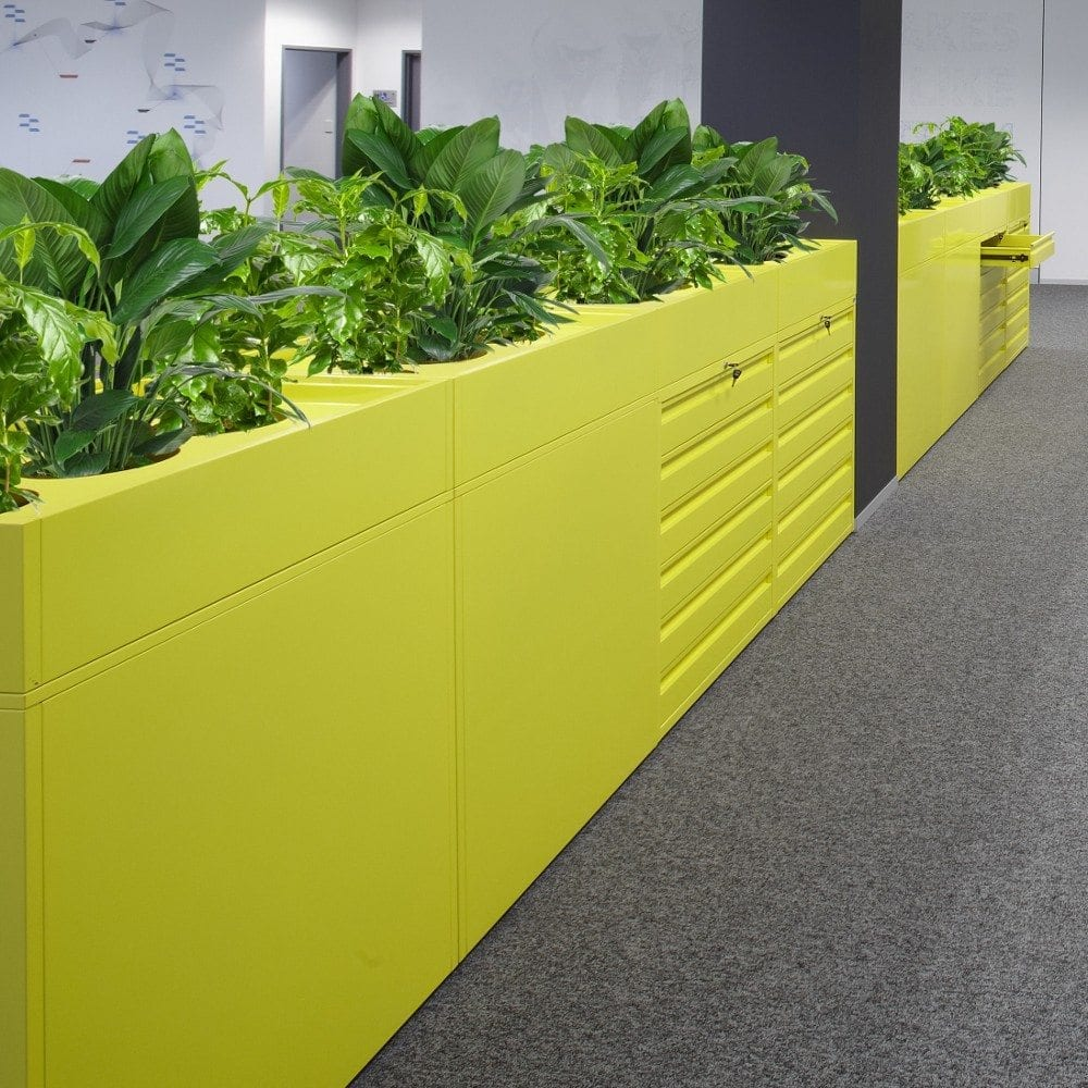 Office Cabinets with Planters