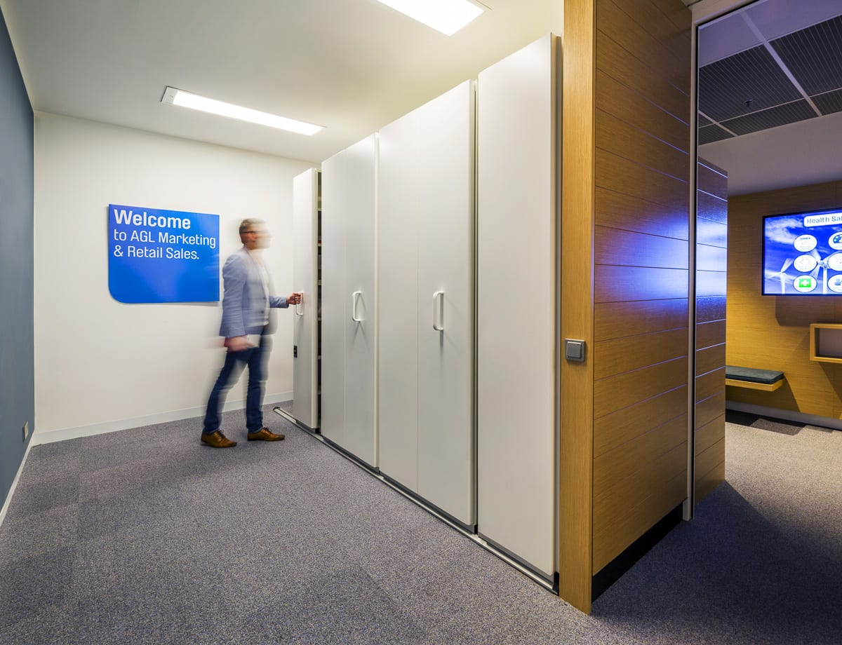 CSM Office Furniture Sydney - Rolling Storage - AGL Project