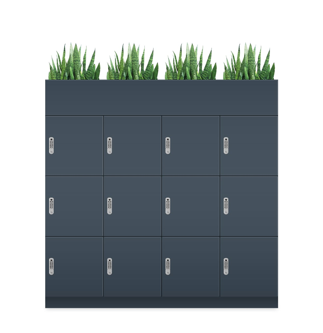 Office Locker Roller Cabinets With Planter