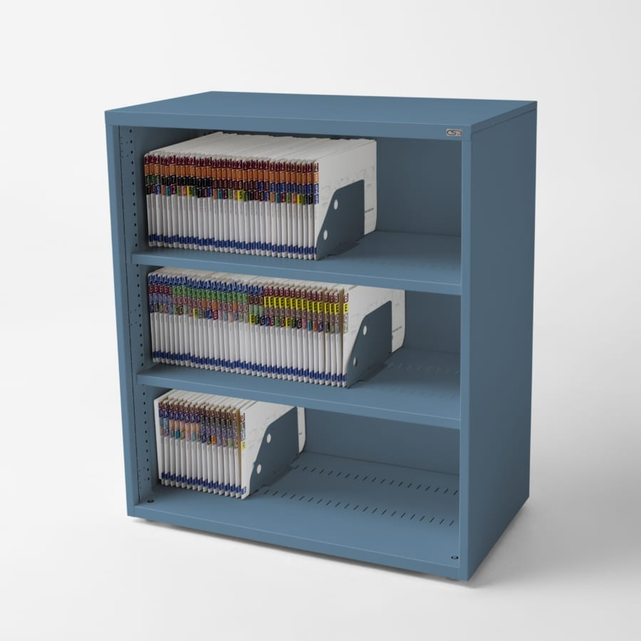 Open Shelving Bookcase Blue