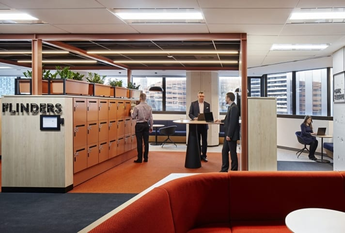 Bank of Melbourne Office Lockers
